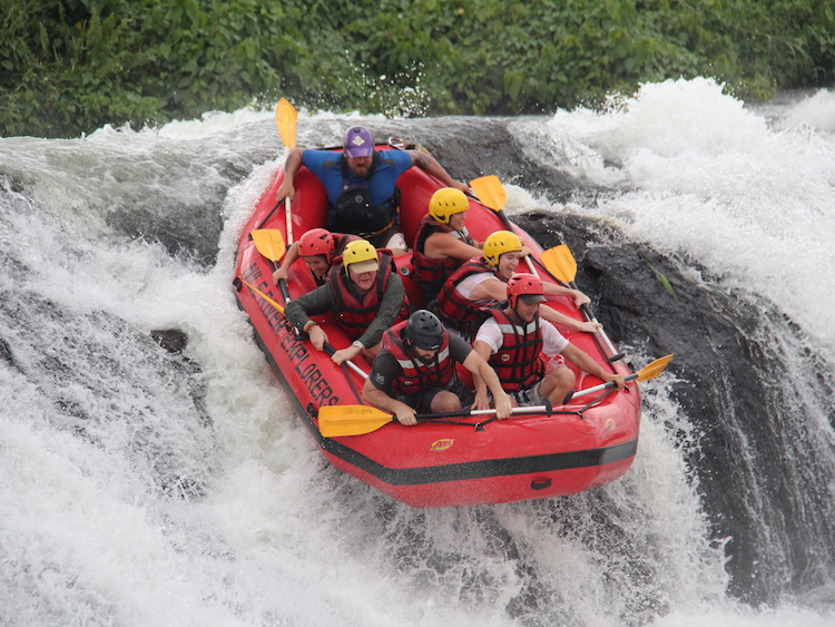 White water rafting Nile