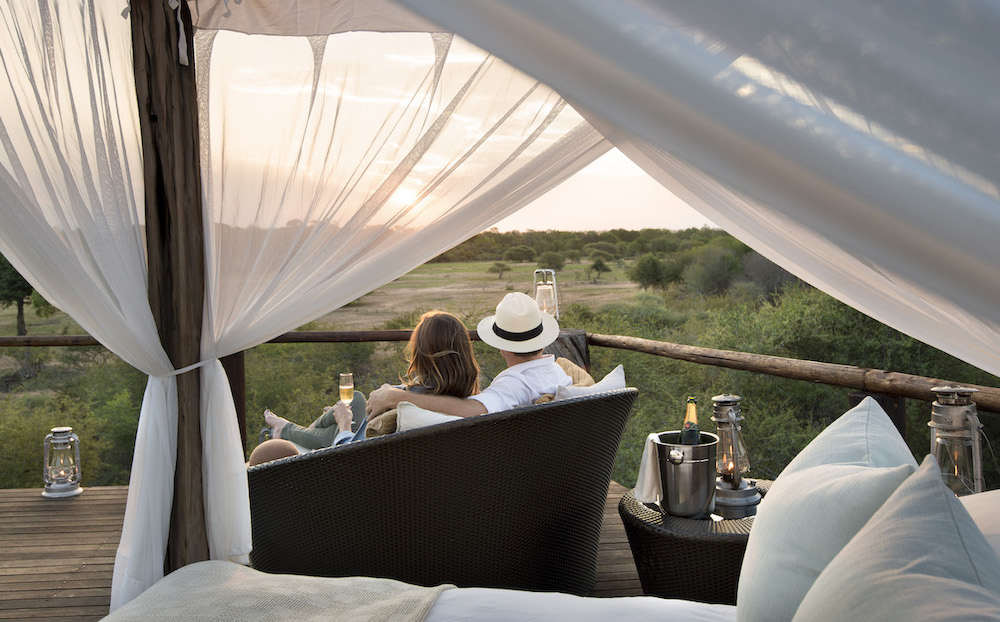 Lion Sands chalkley treehouse sundowners